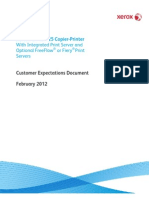Xerox D110-125 Copier Printer - Customer Expectations Document