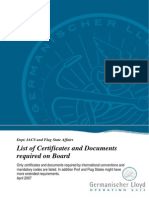 List of Certificates