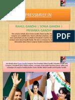 Rahul Gandhi | Sonia Gandhi | Priyanka Gandhi Vadra