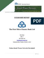Fmfb Intrnship Report