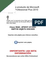 Clave de Producto de Microsoft Office Professional Plus 2010 Beta(2)(2)
