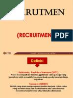 PENGAMBILAN (RECRUITMENT) DALAM PENGURUSAN SUMBER MANUSIA (HUMAN RESOURCE)