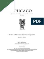 SSRN-Id610983 R. Posner L & E Contract Interpretation