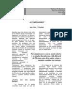 Drucker Petera - Automanagement