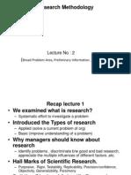 2 Problem Area and Literature Survey