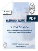 VALIA-Criterios de Ingreso en UCI-Sesion SARTD-CHGUV-6!3!12