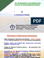 Evaluation of Permanent Deformation Characteristics of Bituminous Mixes