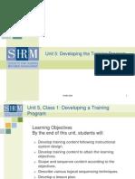 Developing a Traing Program