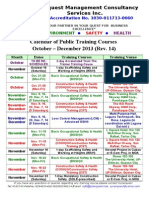 Synerquest-Public Training Schedule for Oct-Dec 2013 Ver14