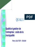 Couts de La Qualite