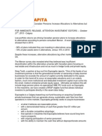 Equicapita - Canadian Pensions Increase Allocations to Alternatives