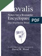 Novalis- Notes for a Romantic Encyclopaedia (2007)
