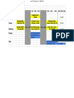 Level 2 Performance - CME200X Timetable