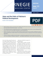 Islam and the Paths of Pakistan's Political Development