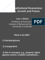 ALSTON, Lee J. the New Institutional Economics - Its Roots, Growth and Future