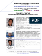 Profile of EPR Trainers