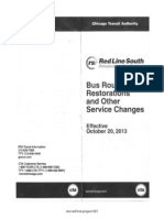 Red Line South bus restoration and other service