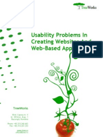 Usability Problems in Creating Websites and Web-based Applications (TreeWorks white paper)