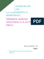PLANIFICACIÓN DE UN SISTEMA DE ENTRENAMIENTO O RESISTENCIA