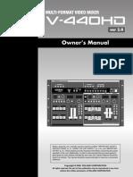 edirol v440hd Manual