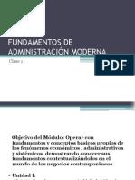 FUNDAMENTOS DE ADMINISTRACIÓN MODERNA