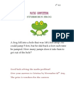 1st Competition of the Month 1º ESO STUBBORN FROG