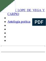 Antologia Poetica - Lope de Vega, Felix