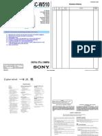 Sony Dsc-w510 Ver1.0 Sm