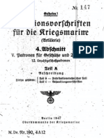 """M.Dv.190/4A12"" Munitionsvorschriften fur die Kriegsmarine (Artillerie) - 1941"
