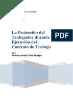 LA PROTECCIÓN DEL TRABAJADOR DURANTE LA EJECUCIÓN DEL CONTRATO DE TRABAJO