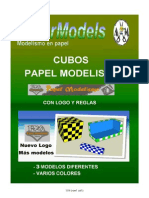 cubos papel modelismo