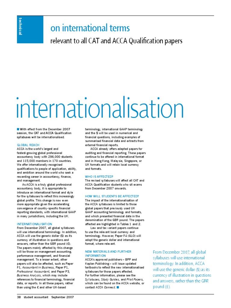 International Terms - Sep 07 | International Financial