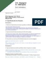 Corrige BAC-ES Espagnol-LV2 2013