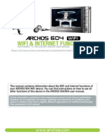 English - Wifi Functions Manual - Archos 604 Wifi - V1.2