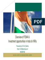 Over View of FEMA and Investment Opportunities for NRI