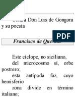 Contra Don Luis de Gongora y Su Poesia - Quevedo, Francisco De