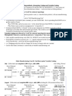 Variable Costing - Managerial Accounting