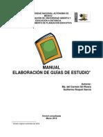 Manual Para La Elaboracion de La Guia de Estudios