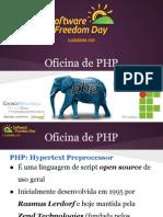 Oficina de PHP - Software Freedom Day Luziânia 2013