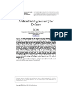 Artificial Intelligence in Cyber Defense