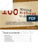 100 Writing Mistakes in English