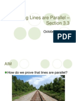 proving lines are parallel  section 3 3
