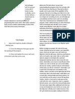 Screencast Task Analysis and Script
