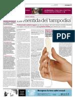 El bulo del tampodka (El Periódico 21 de juny de 2013)