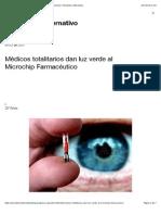 Médicos totalitarios dan luz verde al Microchip Farmacéutico   Periodismo Alternativo