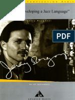 Jerry Bergonzi - Inside Improvisation Vol.6 Developing a Jazz Language