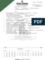 CLASS 9 OCT 09