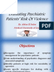 Evaluating Psychiatric Patients' Risk Of Violence