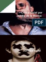 Critica social por medio de la música