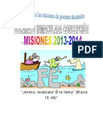 Subsidio mision 2013-2014